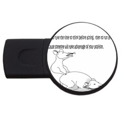 Better To Take Time To Think 2gb Usb Flash Drive (round) by Doudy