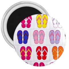 Flip Flop Collage 3  Button Magnet by StuffOrSomething