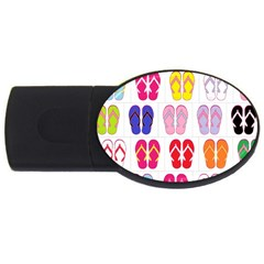Flip Flop Collage 2gb Usb Flash Drive (oval) by StuffOrSomething