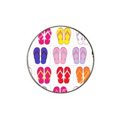 Flip Flop Collage Golf Ball Marker 10 Pack (for Hat Clip) by StuffOrSomething