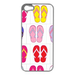 Flip Flop Collage Apple Iphone 5 Case (silver) by StuffOrSomething