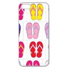 Flip Flop Collage Apple Seamless Iphone 5 Case (clear) by StuffOrSomething