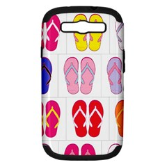 Flip Flop Collage Samsung Galaxy S Iii Hardshell Case (pc+silicone) by StuffOrSomething