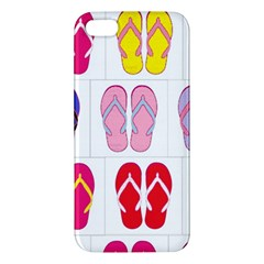 Flip Flop Collage Iphone 5s Premium Hardshell Case by StuffOrSomething