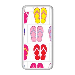 Flip Flop Collage Apple Iphone 5c Seamless Case (white) by StuffOrSomething