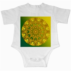 Yellow Green Abstract Wheel Of Fire Infant Bodysuit by DianeClancy