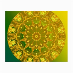Yellow Green Abstract Wheel Of Fire Glasses Cloth (small) by DianeClancy