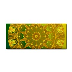 Yellow Green Abstract Wheel Of Fire Hand Towel by DianeClancy