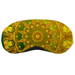 Yellow Green Abstract Wheel Of Fire Sleeping Mask by DianeClancy