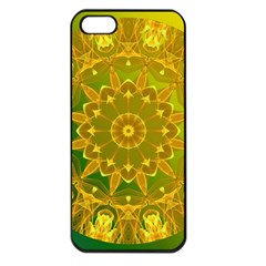 Yellow Green Abstract Wheel Of Fire Apple Iphone 5 Seamless Case (black) by DianeClancy