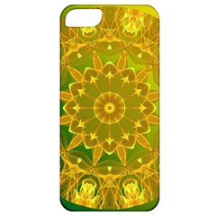 Yellow Green Abstract Wheel Of Fire Apple Iphone 5 Classic Hardshell Case by DianeClancy
