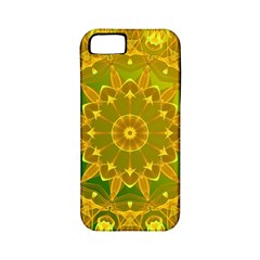 Yellow Green Abstract Wheel Of Fire Apple Iphone 5 Classic Hardshell Case (pc+silicone) by DianeClancy