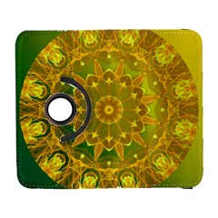 Yellow Green Abstract Wheel Of Fire Samsung Galaxy S  Iii Flip 360 Case by DianeClancy