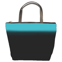 Black And Aqua Bucket Handbag by KKsDesignz