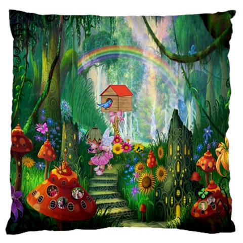 Fairyland Large Cushion Case (one Side) By Kim Blair   Large Cushion Case (one Side)   Og04ayuzg2eq   Www Artscow Com Front