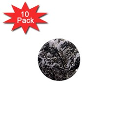 Snowy Trees 1  Mini Button Magnet (10 Pack) by DmitrysTravels