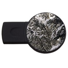 Snowy Trees 4gb Usb Flash Drive (round) by DmitrysTravels