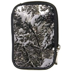 Snowy Trees Compact Camera Leather Case by DmitrysTravels
