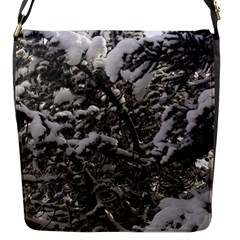 Snowy Trees Flap Closure Messenger Bag (small) by DmitrysTravels
