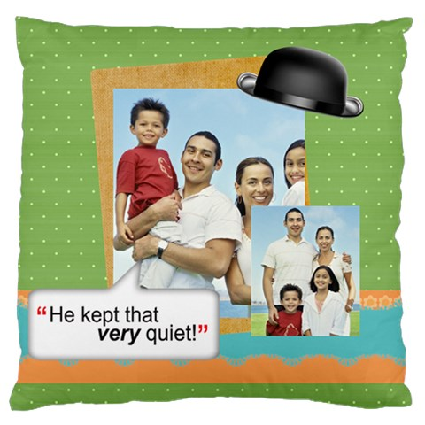 Father s Day By Dad   Large Cushion Case (one Side)   Ddox70etqi2t   Www Artscow Com Front
