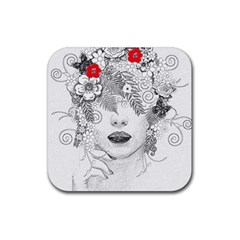 Flower Child Drink Coaster (square) by StuffOrSomething