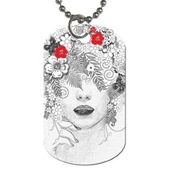 Flower Child Dog Tag (one Sided) by StuffOrSomething