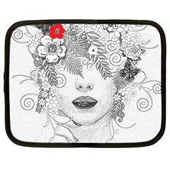 Flower Child Netbook Sleeve (large) by StuffOrSomething