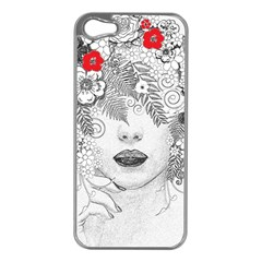 Flower Child Apple Iphone 5 Case (silver) by StuffOrSomething