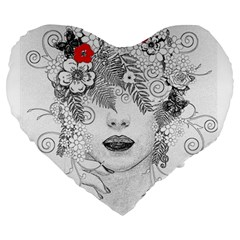 Flower Child 19  Premium Heart Shape Cushion by StuffOrSomething