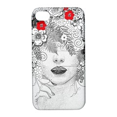 Flower Child Apple Iphone 4/4s Hardshell Case With Stand by StuffOrSomething