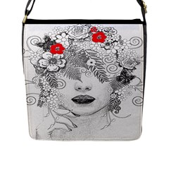 Flower Child Flap Closure Messenger Bag (large) by StuffOrSomething