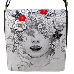 Flower Child Flap Closure Messenger Bag (Small) by StuffOrSomething