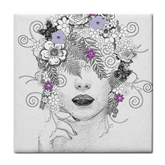 Flower Child Of Hope Ceramic Tile by FunWithFibro