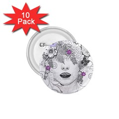 Flower Child Of Hope 1 75  Button (10 Pack)
