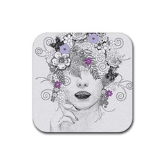 Flower Child Of Hope Drink Coasters 4 Pack (square) by FunWithFibro