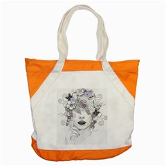 Flower Child Of Hope Accent Tote Bag by FunWithFibro