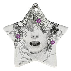 Flower Child Of Hope Star Ornament (two Sides) by FunWithFibro