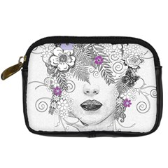 Flower Child Of Hope Digital Camera Leather Case by FunWithFibro