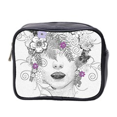 Flower Child Of Hope Mini Travel Toiletry Bag (two Sides) by FunWithFibro