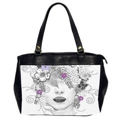 Flower Child Of Hope Oversize Office Handbag (two Sides) by FunWithFibro