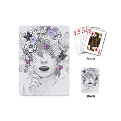Flower Child Of Hope Playing Cards (mini) by FunWithFibro
