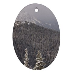 Mountains Oval Ornament (Two Sides)
