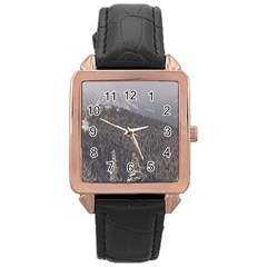 Mountains Rose Gold Leather Watch  by DmitrysTravels
