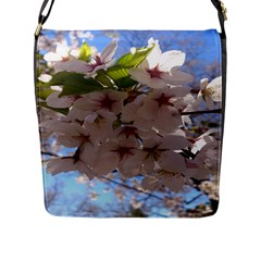 Sakura Flap Closure Messenger Bag (large) by DmitrysTravels