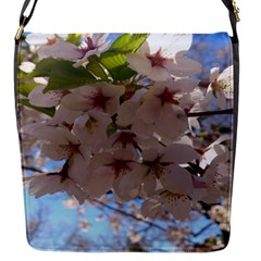 Sakura Flap Closure Messenger Bag (small) by DmitrysTravels