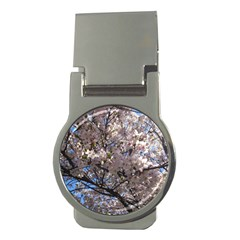 Sakura Tree Money Clip (round) by DmitrysTravels