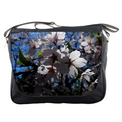 Cherry Blossoms Messenger Bag by DmitrysTravels