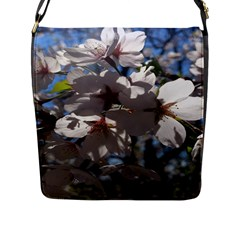 Cherry Blossoms Flap Closure Messenger Bag (large) by DmitrysTravels