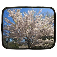 Cherry Blossoms Tree Netbook Sleeve (Large) by DmitrysTravels