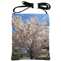 Cherry Blossoms Tree Shoulder Sling Bag by DmitrysTravels